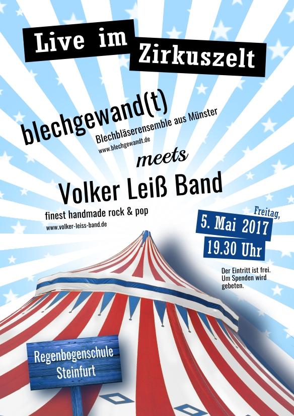 Plakat live im Zelt 5.5.2017