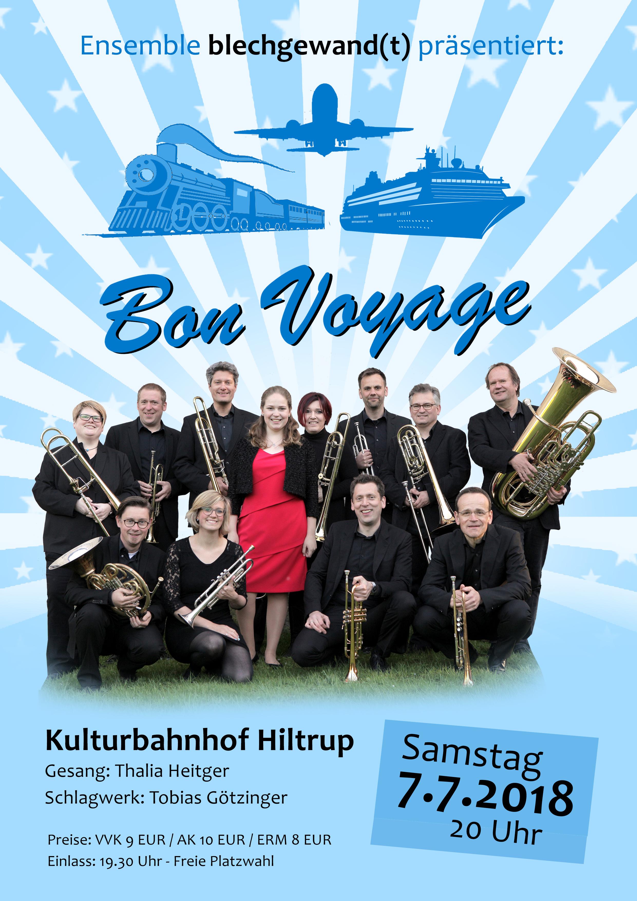 Flyer - blechgwandt - Bon Voyage - 7.7.2018
